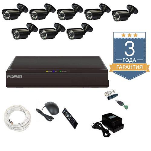 Комплект видеонаблюдения на 8 уличных камер АН8У